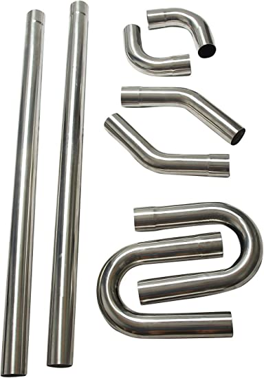 """3/"""" Stainless Steel Straight Exhaust Tubing T-409 Exhaust pipe 59 1//4/"""" Long"""