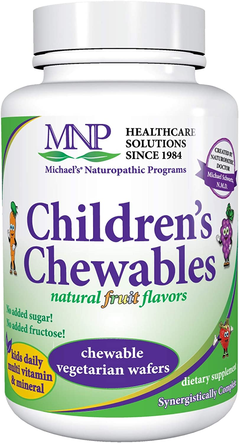 Michael s Naturopathic Programs Childrens Chewables – Fruit Punch Flavor – 120 Vegetarian Wafers – Childrens Multivitamin Mineral Supplement – Kosher – 60 to 120 Servings