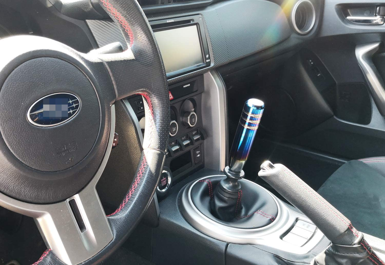 iJDMTOY JDM Burnt Neo-Chrome Titanium Finish Shift Knob Stick etc Universal Fit Most Car 4//5//6 Speed Manual or Automatic
