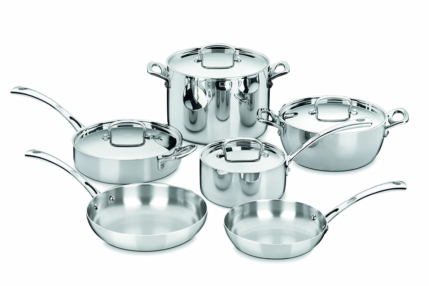 Cuisinart French Classic Tri-Ply Stainless Cookware 10-Piece Set