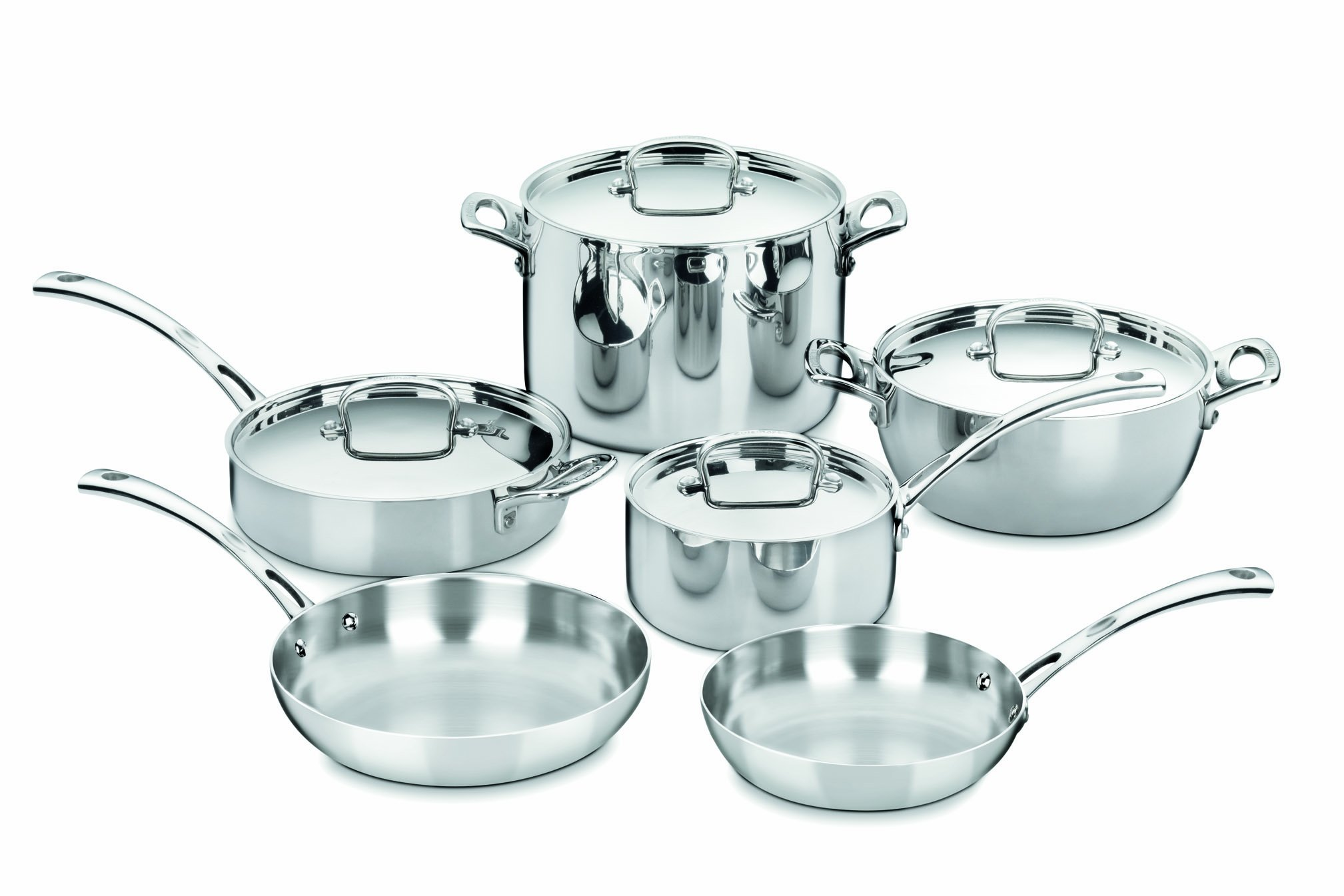 Cuisinart FCT-10 French Classic Tri-Ply Stainless 10-Piece Cookware Set by Cuisinart (Image #1)