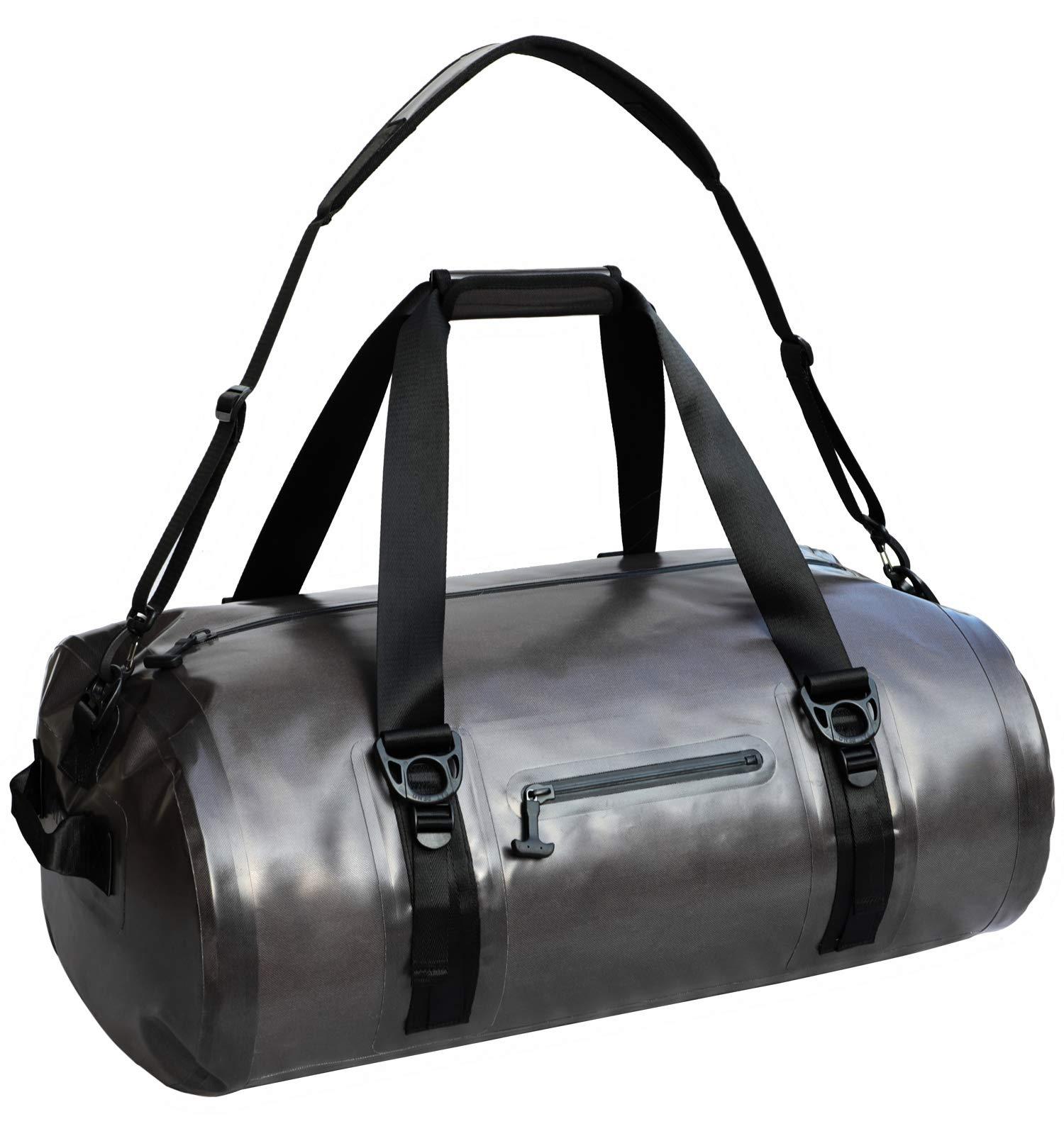 MIER Waterproof Duffel Bag Airtight Dry Bag for Kayaking, Boating, Beach, Rafting, Motorcycle, Travel, Hiking, Camping, Outdoor Adventure, 90L, Dark Grey by MIER