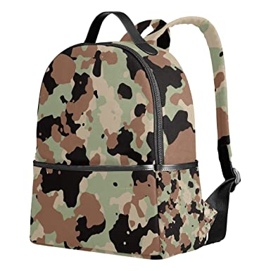 Image Unavailable. Image not available for. Color  Military Camo Camouflage  Pattern Print Unisex Canvas School College Student Backpack ... cb5e49db1e292