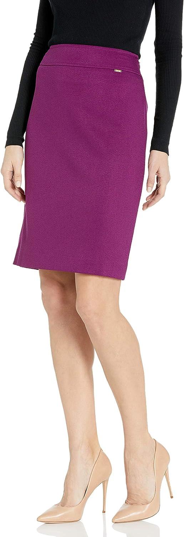 Tahari ASL Womens Wide Waistband Double Back Vent Pencil Skirt