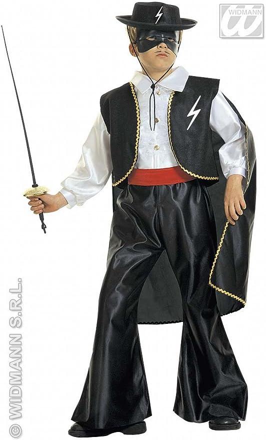 3411Z Caballero Cappello Zorro Feltro Carnevale Bambino Feste Party Spettacolo