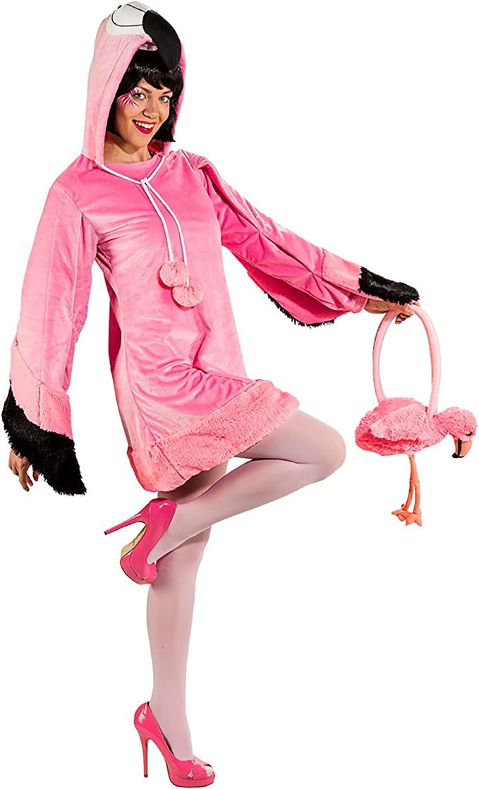 Disfraz de Flamenco Rosalie para Mujer con Disfraz de pájaro ...