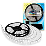 LightPlus 16.4 ft (5m) RGB LED Strip – Flexible 300 Leds Color Changing RGB SMD5050 LED Light Strip – Powerful, Bright, and Long Lasting Lights