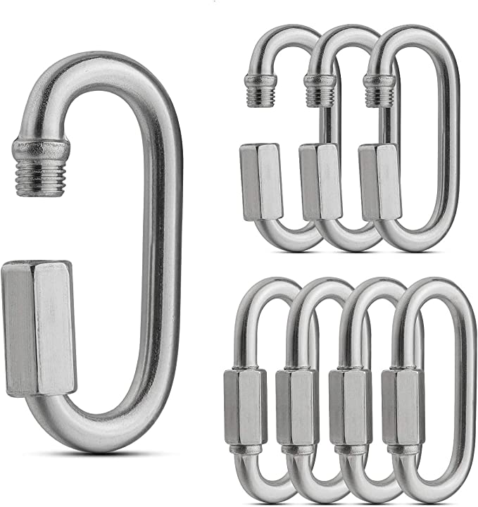 Quick Link Oval Carabiner Chain Quick Links Connector Swing Clip Screw Lock
