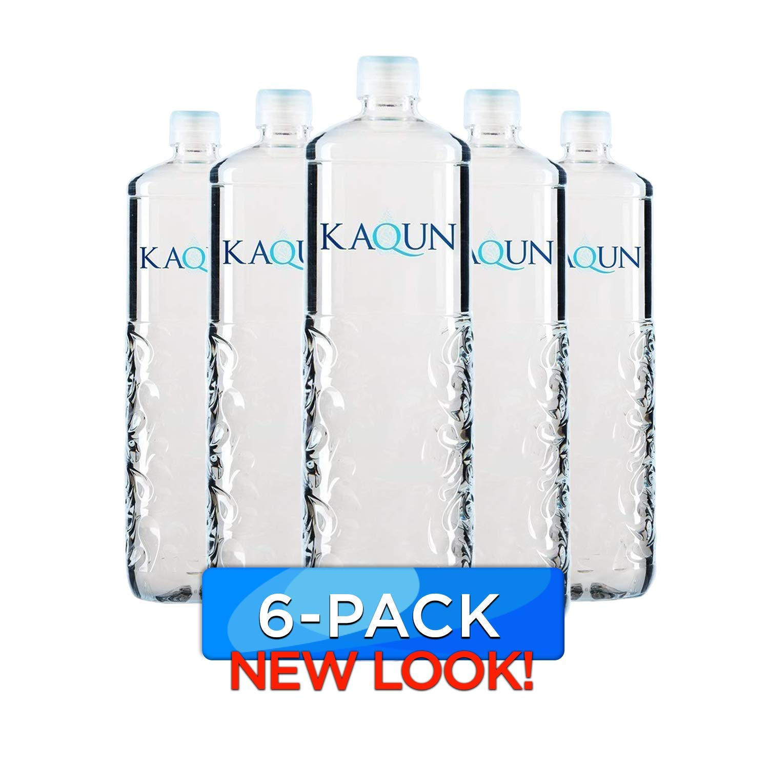 KAQUN Water 6-Pack, Oxygenated & Refreshing, Oxygen Infused Bottled Drinking Water, Chemical Free, Detox, for Kaqun Therapy, Authorized Retailer by BodyHealth