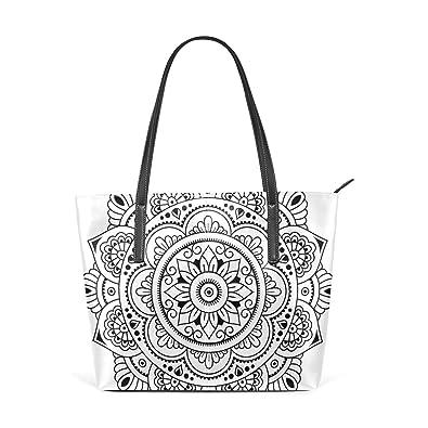 Amazon.com: Bolso de piel sintética para mujer, diseño ...