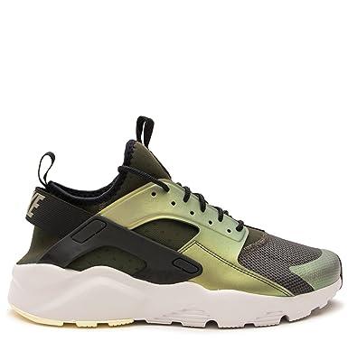 Men's Nike Air Huarache Run Ultra SE Casual Sequoia/Black/Lite Bone 875841 302