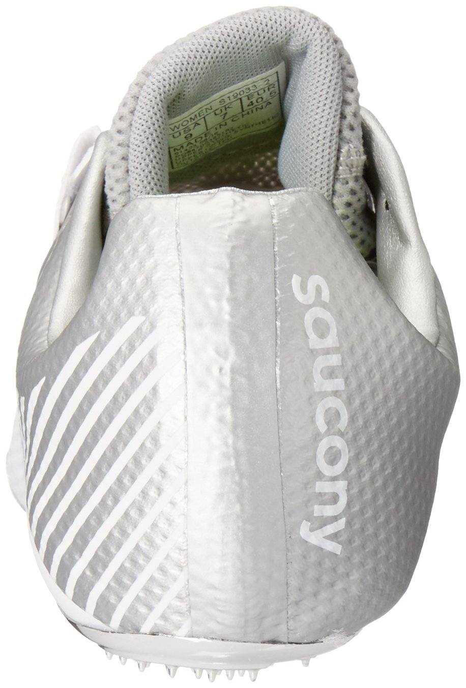 Saucony Women's Showdown 4 Track Shoe White/Silver 10 M US by Saucony (Image #2)