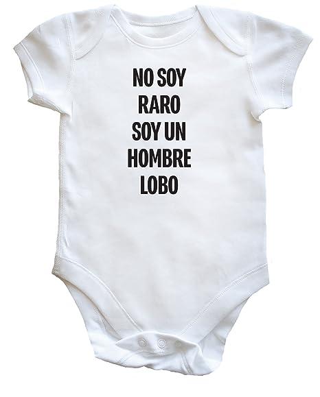 HippoWarehouse No Soy Raro Soy Un Hombre-Lobo body bodys pijama niños niñas unisex