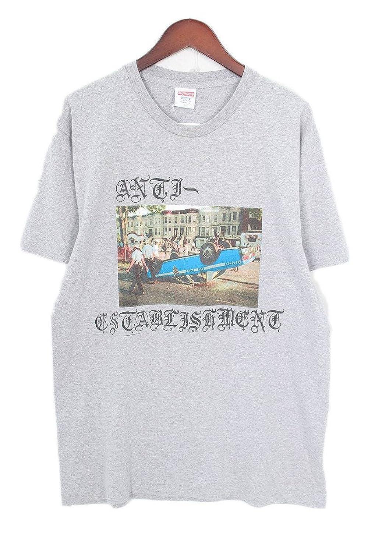 (シュプリーム) SUPREME 【13AW】【Anti Establishment Tee】フォトプリントTシャツ(L/グレー) 中古 B07FBC1YLR  -
