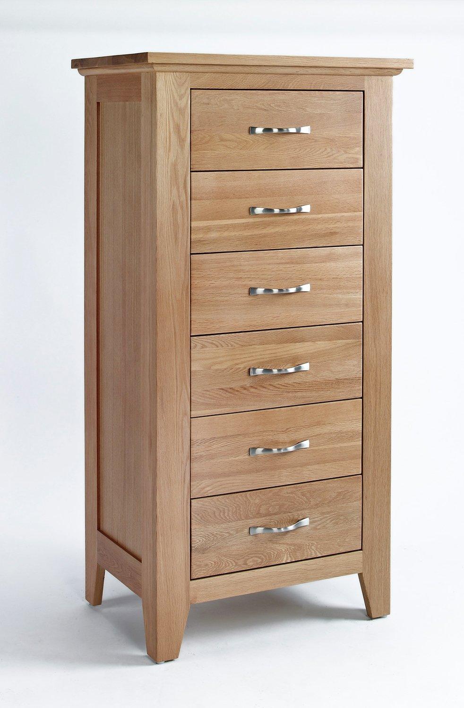 nottingham eiche m bel kommode mit 6 schubladen hoch g nstig bestellen. Black Bedroom Furniture Sets. Home Design Ideas