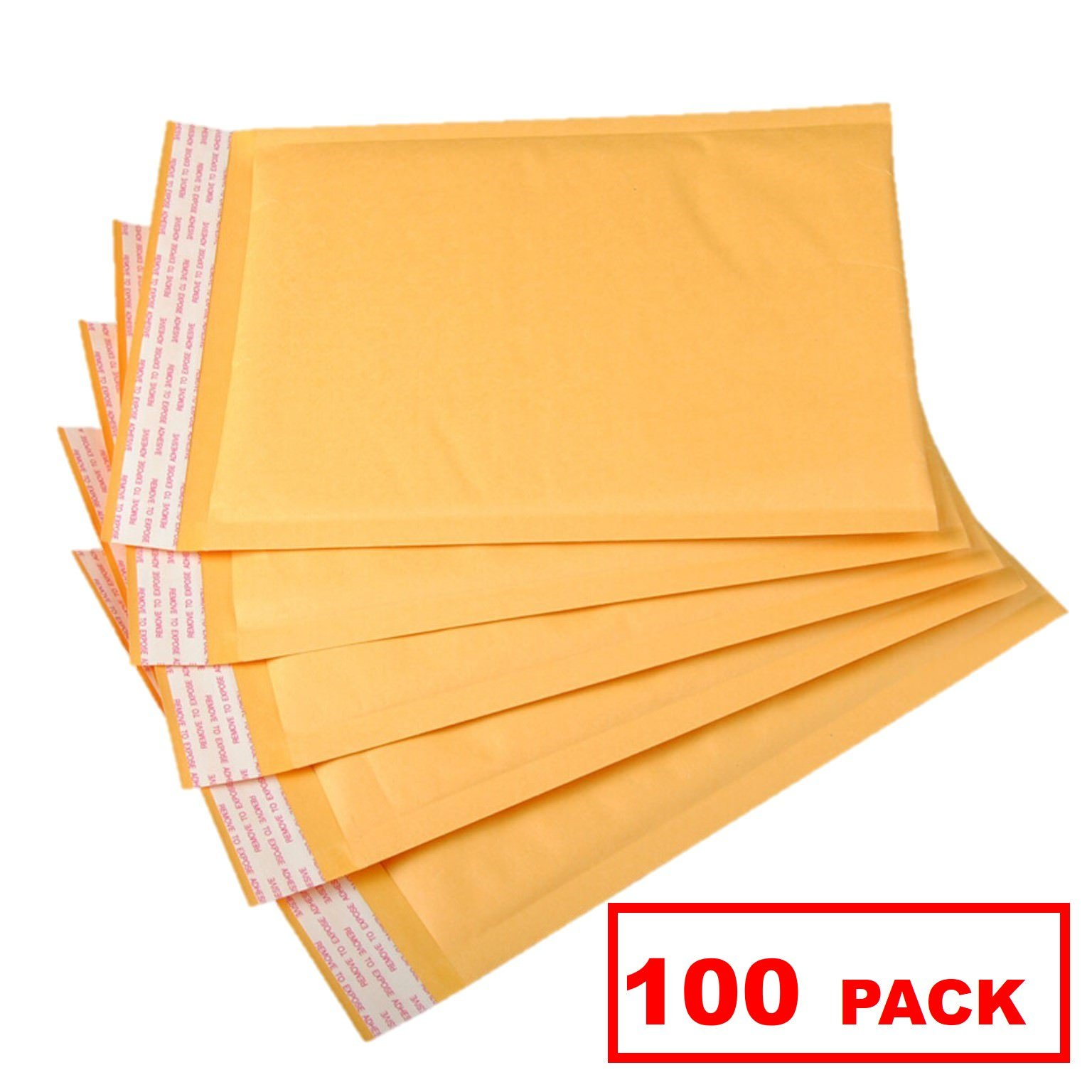 OfficeKit Kraft Bubble Mailers #5 10.5X16 inches Shipping Padded Envelopes Self Seal Cushioned Mailing Envelope Bags 100 Pack