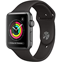 (Refurbished) Apple Watch Series 3 (GPS, 42MM) - Space Gray Aluminum Case with Black Sport Band