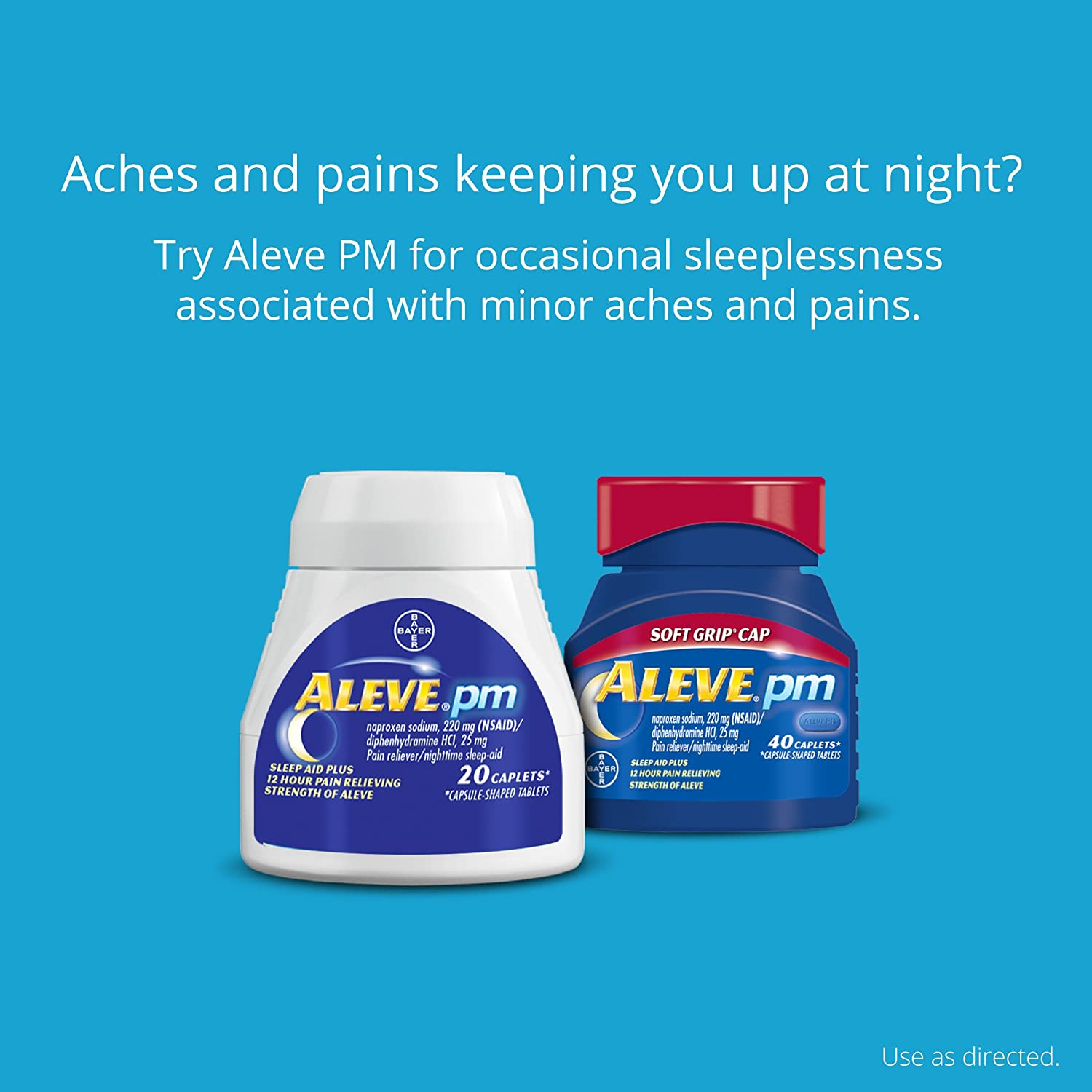 Aleve Pm Caplets With Naproxen Sodium 220mg Nsaid Pain Reliever