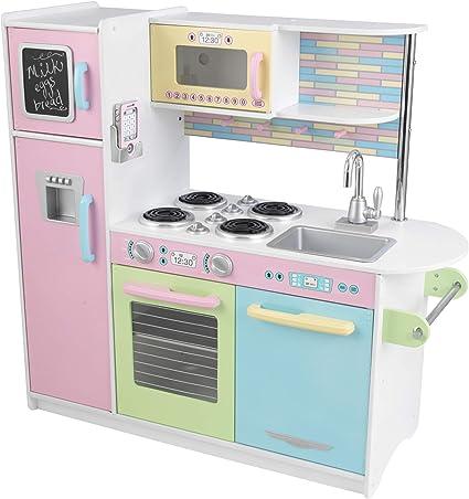 Amazon Com Kidkraft Uptown Pastel Kitchen Playset 53257 Toys Games