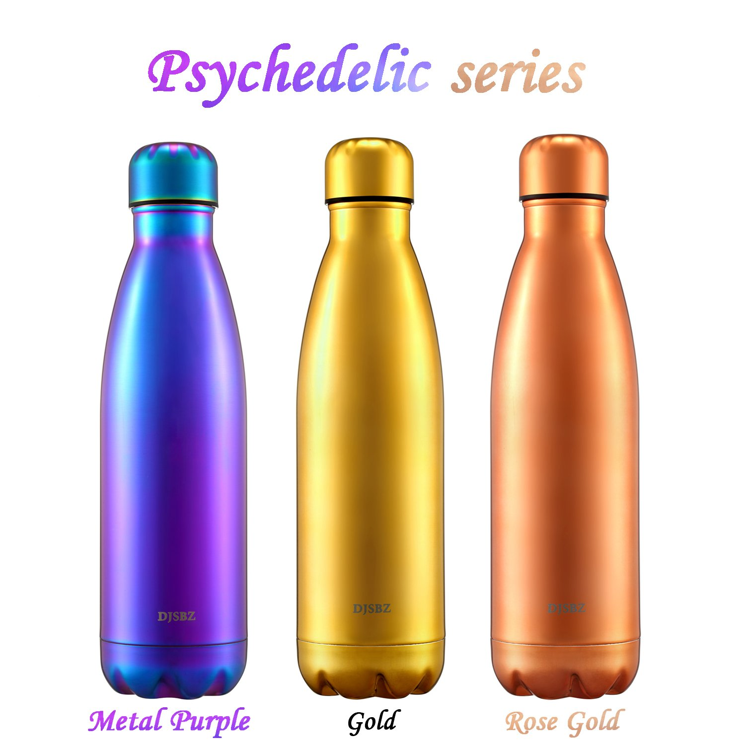 DJSBZ 17oz Cola-Shape Water Bottle 17 Oz Leak-Proof Keep Hot /& Cold 500 ml Metal Purple Personalized Texture,Gift Box Packaging Double Walled Vacuum 18//8 Stainless Steel 500 ml