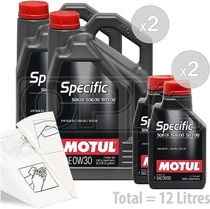 MOTUL Específico 506 01, 506 00 & 503 00 – 0 W-30 Aceite de motor completo sintético – Service Pack: 12 litros: Amazon.es: Coche y moto