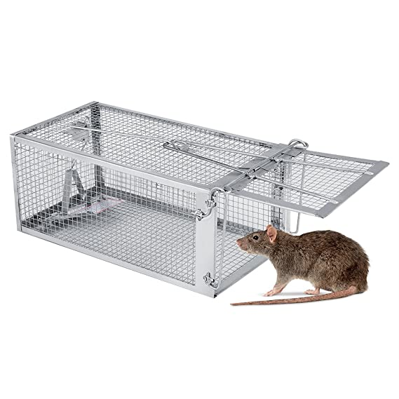 Zerodis Caja de Trampa Aire Libre/Interior Dispositivo Rata de la ...