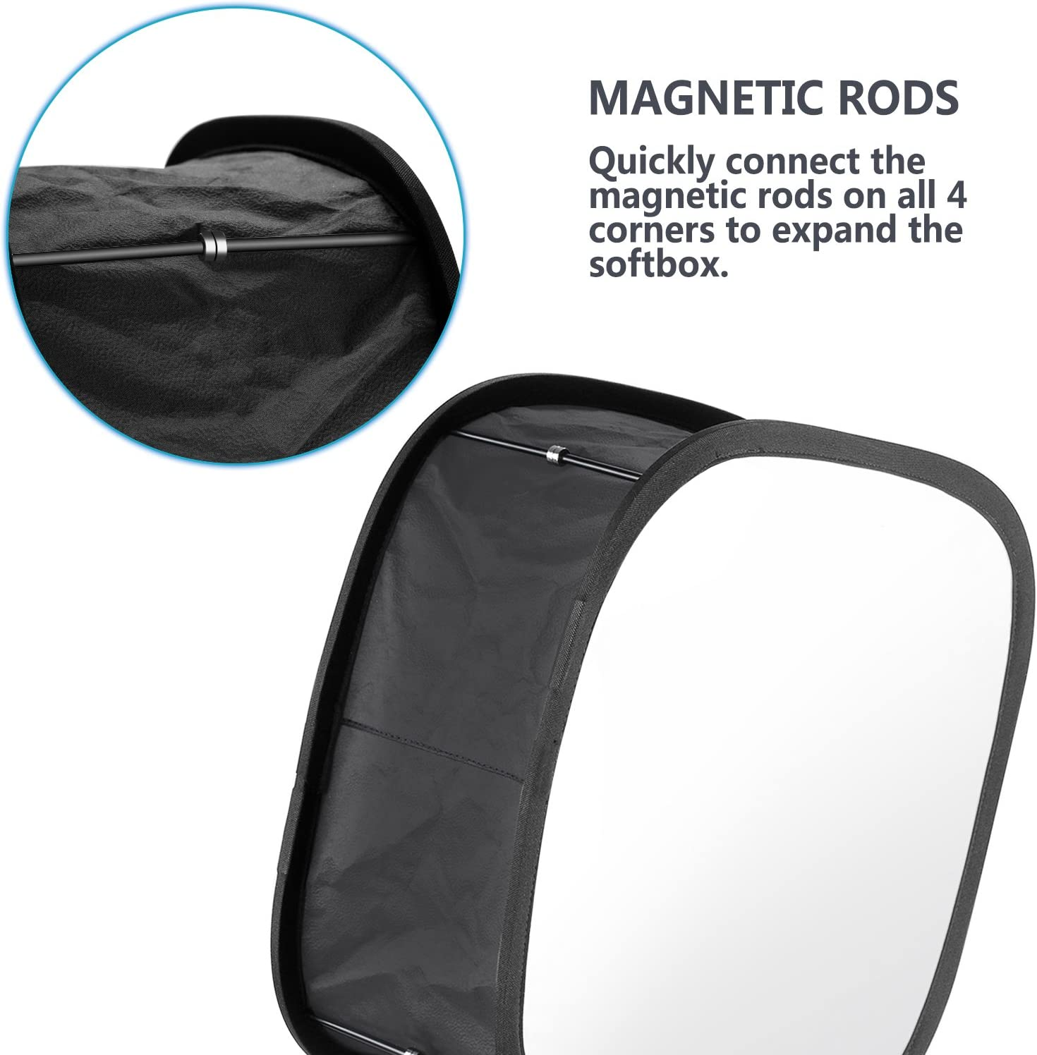 Foldable Portable Light Diffuser with Carrying Bag 11.5x11.5inches Opening Neewer Collapsible Trapezoid LED Light Softbox Strap Attachment Compatible with Neewer 480//660//530 LED Light Panels