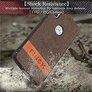 FINON Design Cotton Model [ PC/TPU/Cotton ] for Motorola One Case - Fingerprint Prevention Function and Simple Hybrid case, Cotton Design, Shock Resistance, Lightweight - Black (Color: Black)