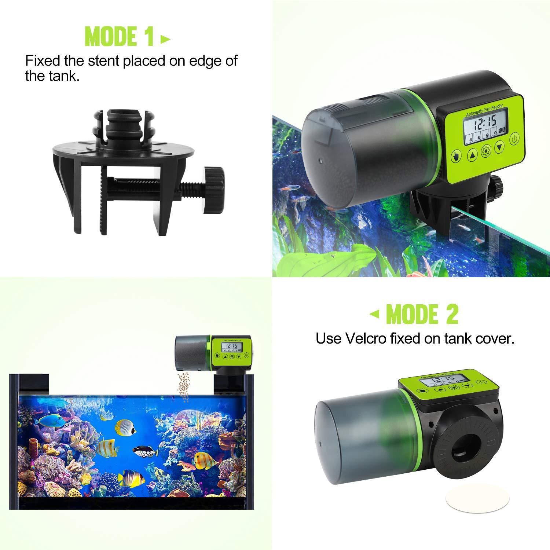 Torlam Auto Fish Feeder, Moisture-Proof Electric Auto Fish Feeder,Aquarium Tank Timer Feeder Vacation &Weekend 2 Fish Food Dispenser by Torlam (Image #3)