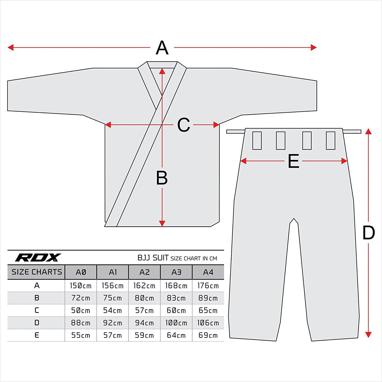Allenamento Uniforme per Adulti Assoluto per Gli Uomini RDX BJJ Gi Jiu Jitsu Kimono MMA Adatto per La Concorrenza Brasiliano IBJJF Tuta di Arti Marziali Cintura Abbigliamento Pre-Restretto