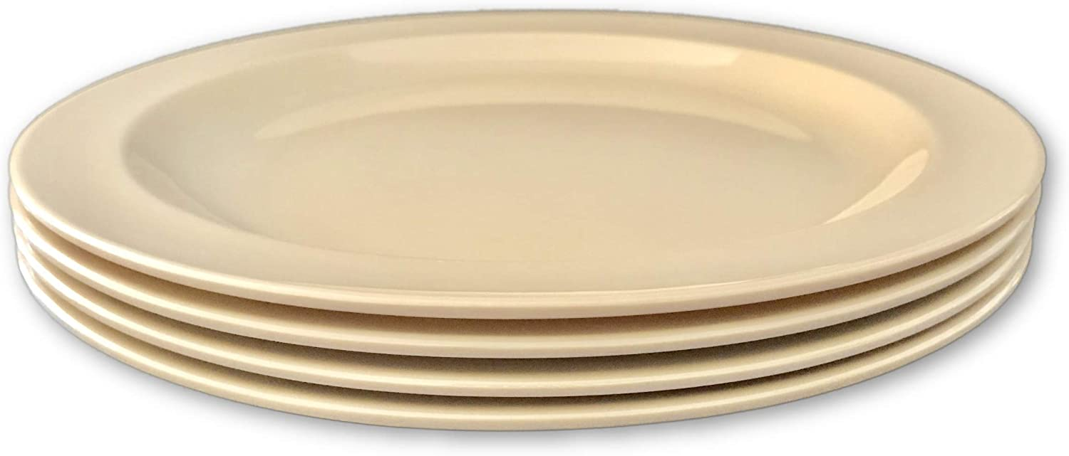 9 in 4 Pack Wheat Straw Plate Set Chip Resistant Plates