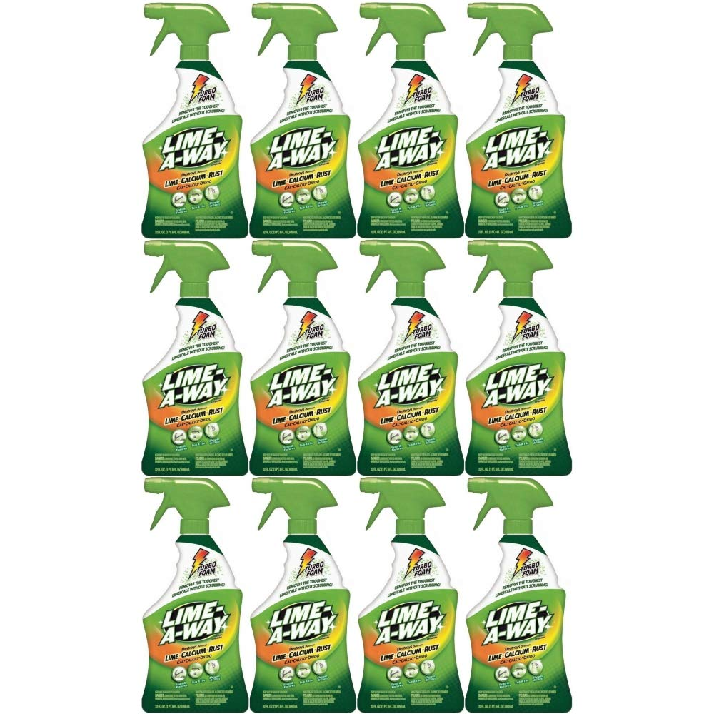 Lime-A-Way Lime Calcium Rust Cleaner, 22 oz (Pack of 12)