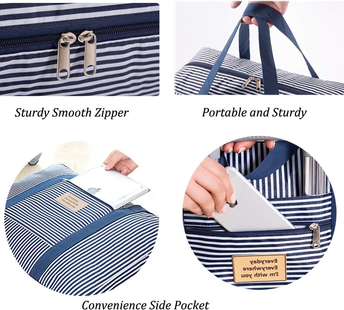 Vohoney Sac fourre-Tout Pliable imperm/éable et l/éger pour Femme Bleu Foldable Duffle Bag for Blue Taille Unique