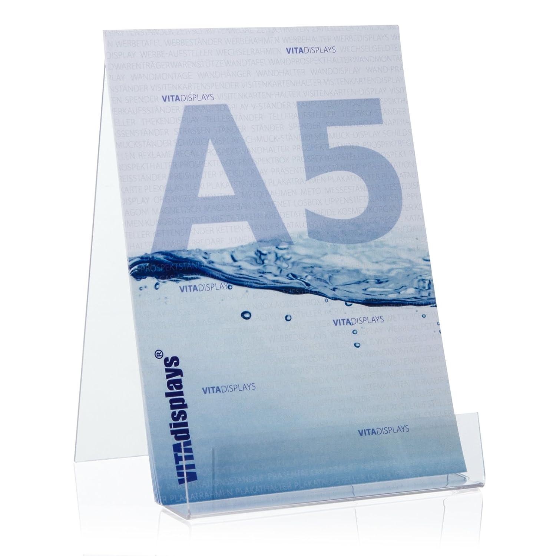 Buchaufsteller als Warentr/äger und Schr/ägsteller im DIN A4 Format aus original PLEXIGLAS/® Buchst/änder