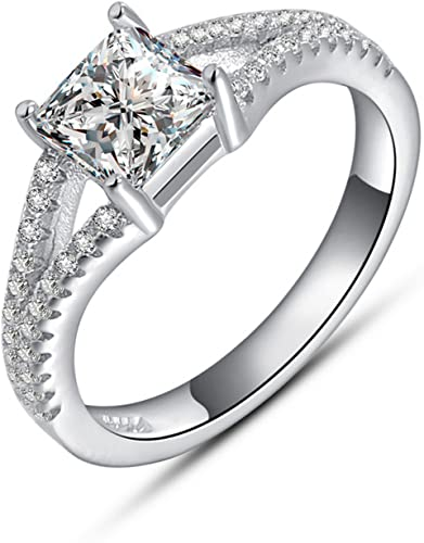 Gemmart Retro Style Ladies Ring sterling silver engagement Ring