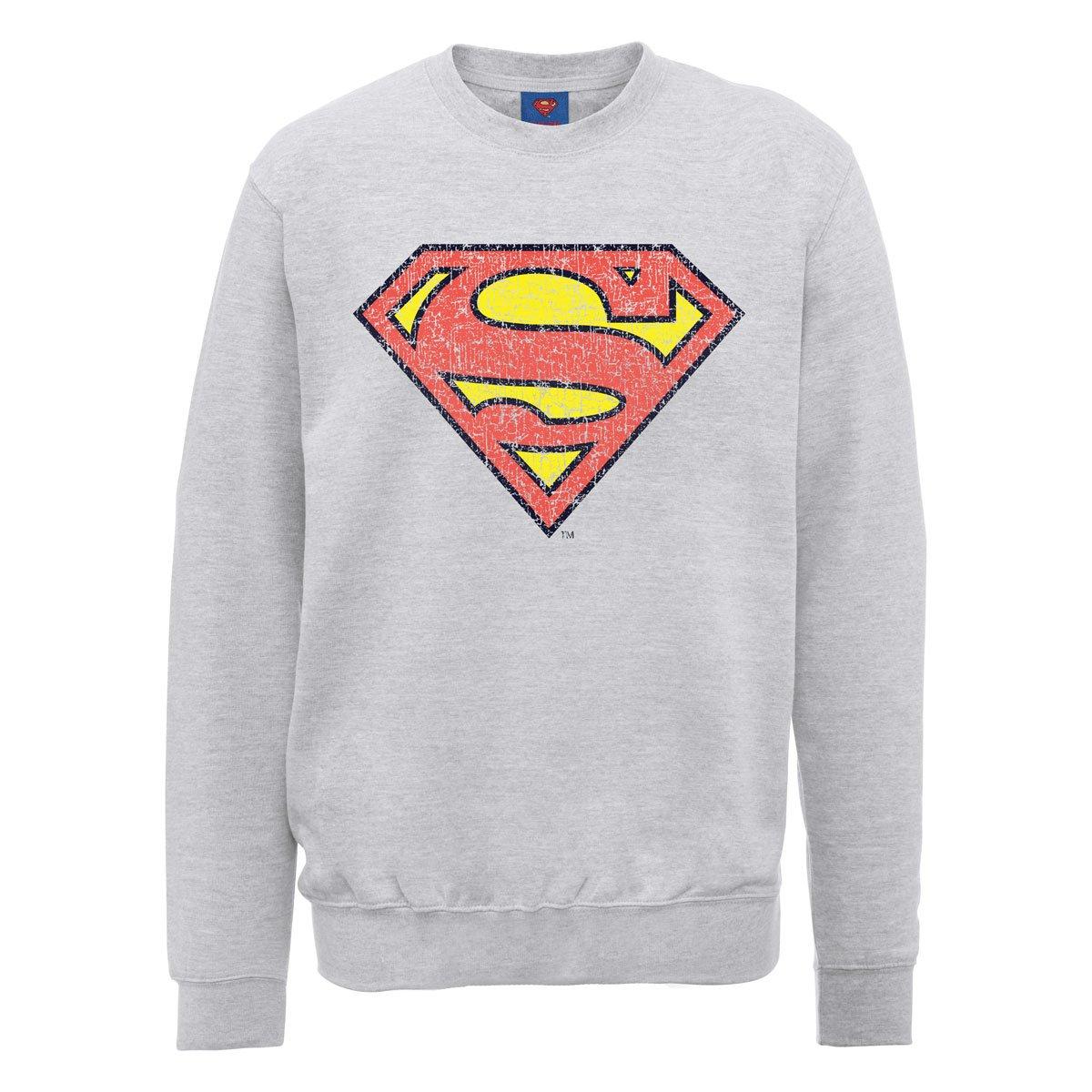 DC Comics Dc0000686 Official Superman Shield Crackle - Sudadera Hombre