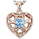 """NEEMODA """"Eternal Love"""" Rose Gold Plated Crystal Heart Pendant Necklace Gift Packing"""