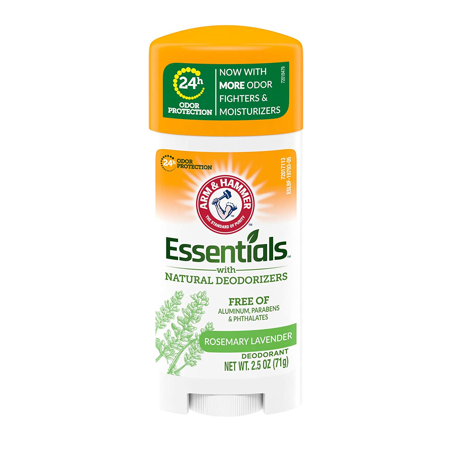 ARM & HAMMER Essentials Deodorant- Fresh Rosemary Lavender- Solid Oval- 2.5oz- Made with Natural Deodorizers- Free From Aluminum, Parabens & Phthalates : Beauty