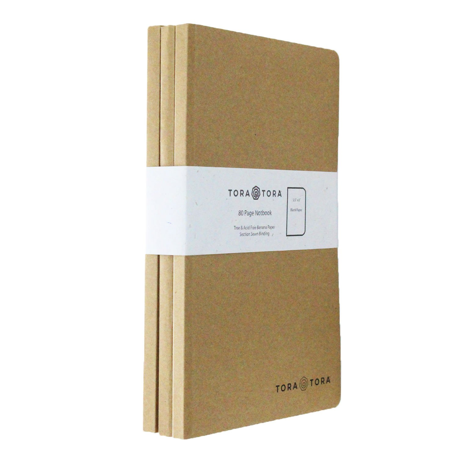 Kraft Banana Paper Notebook and Journal (150 units) - size 5.5 in x 8.5 in