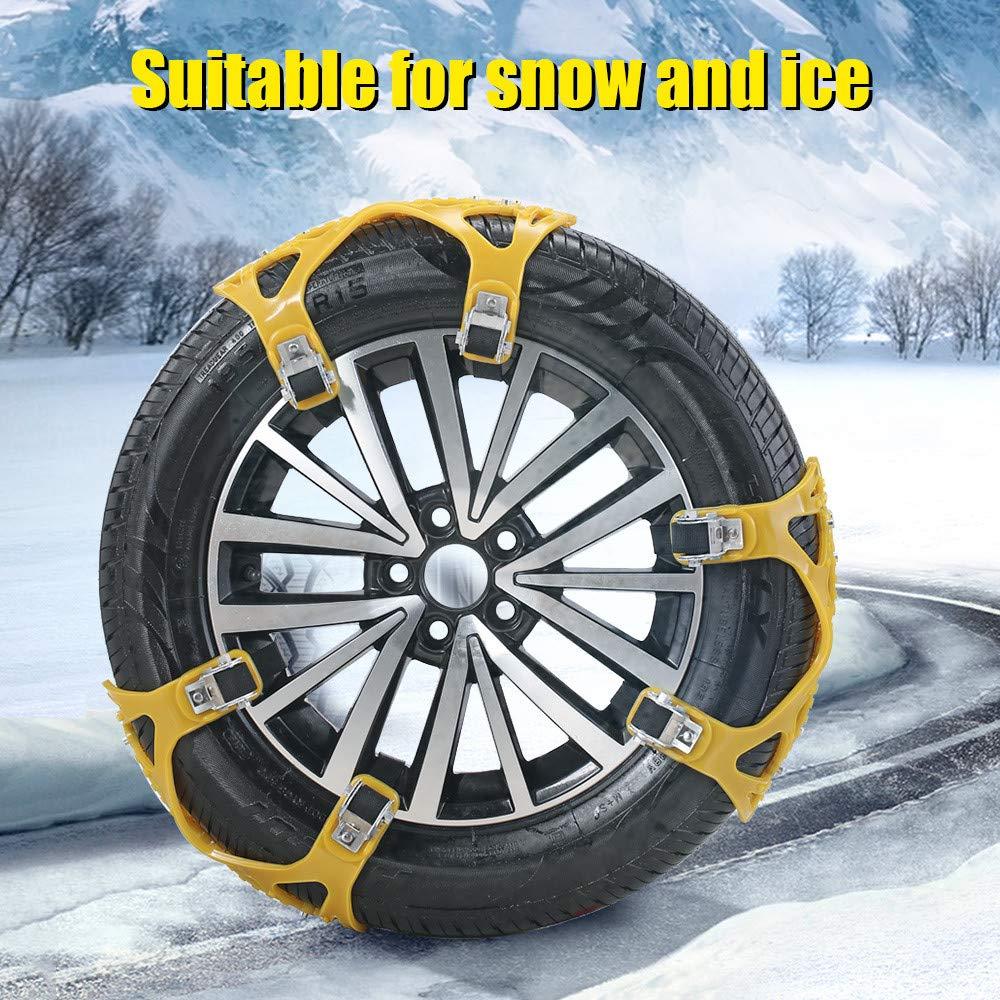 und Schlammstra/ße F/ür Reifenbreiten von 165mm-285mm TOPQSC Auto Schneekette 6 St/ück Reifenketten Rutschfester Reifen Notfallketten auf Schnee und Eisstra/ße Sand