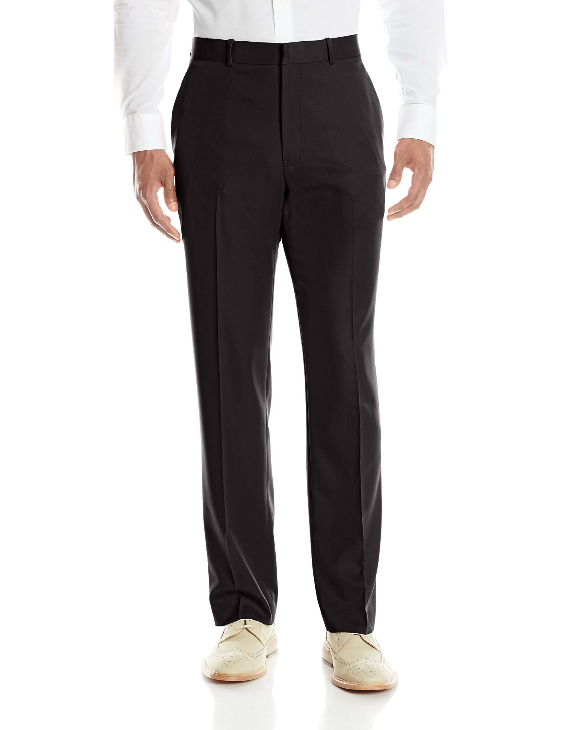 Perry Ellis Men's Portfolio Solid Modern Fit Performance Pant, Black, 34x32 by Perry Ellis
