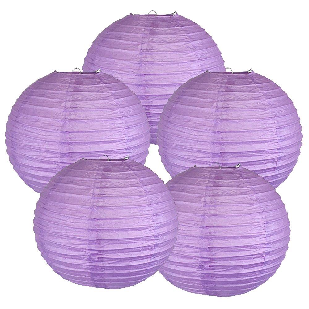 Just Artifacts ペーパーランタン5点セット - (6インチ - 24インチ) 6inch AMZ-RPL5-060021 B01CEXBZTU 6inch|マルベリーパープル (Mulberry Purple) マルベリーパープル (Mulberry Purple) 6inch
