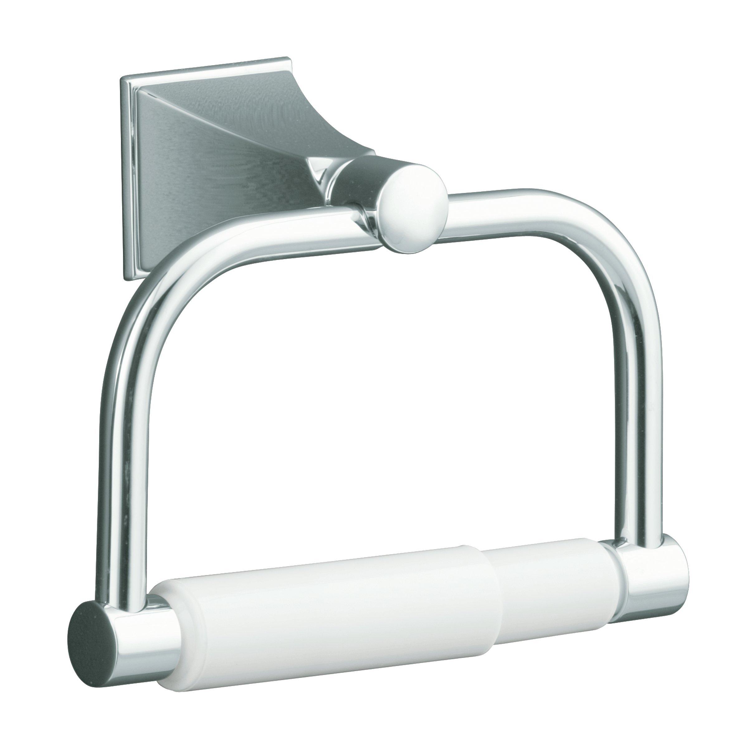 KOHLER K-490-CP Memoirs Toilet Tissue Holder with Stately Design, Polished Chrome