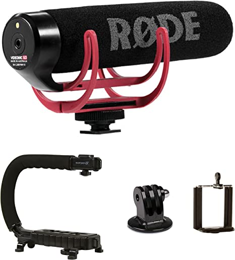 Estabilizador de cámara Grip Handle + Rode VideoMic GO cámara ...