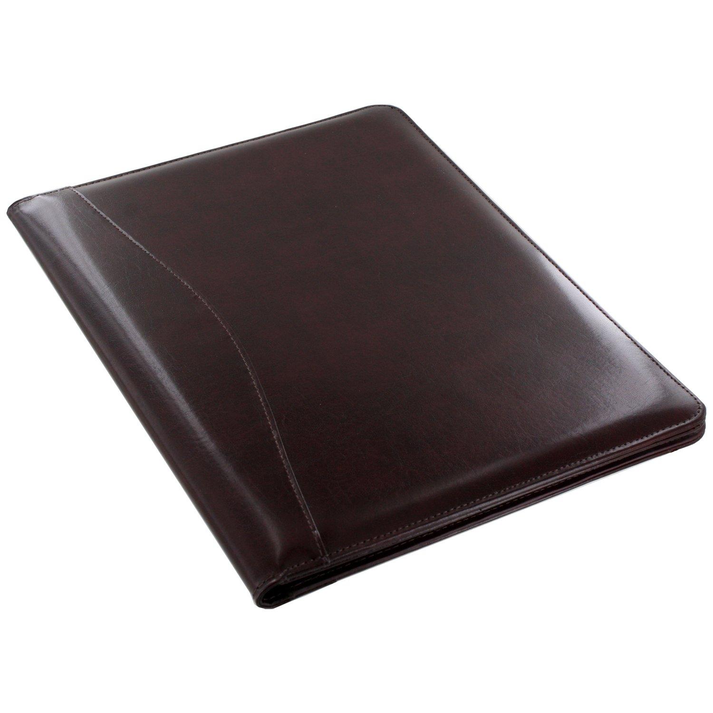 Royce Leather Aristo Padfolio, Aristo Italian Bonded Leather, Burgundy