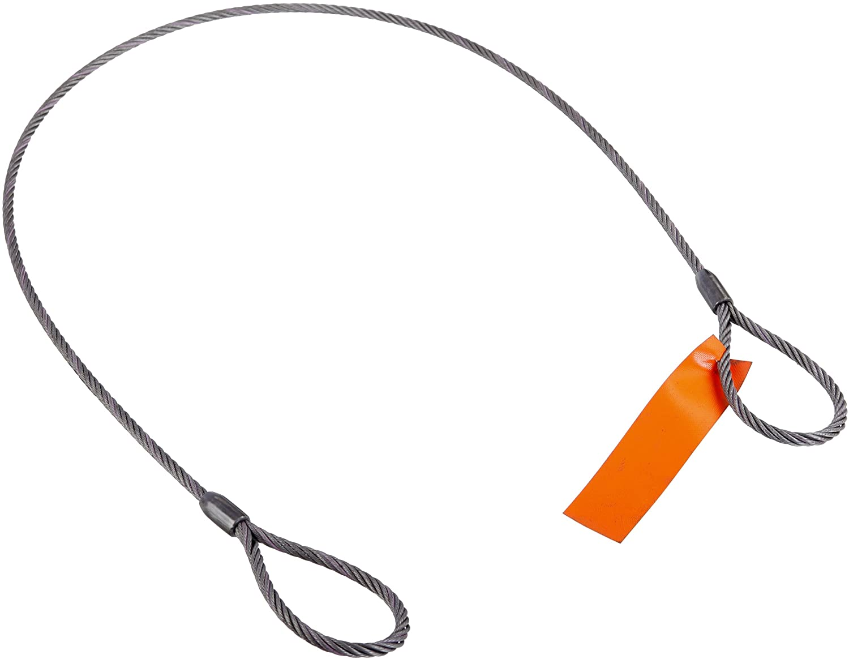 Mazzella Mechanical Splice Wire Rope Sling 2 Length 2800 lbs Vertical Load Capacity 6 Eyes 3//8 Diameter 6 x 25 IWRC Eye-and-Eye