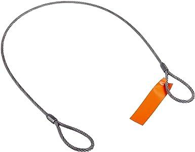 Mazzella Mechanical Splice Wire Rope Sling, Eye-and-Eye, 6 x 37 ...