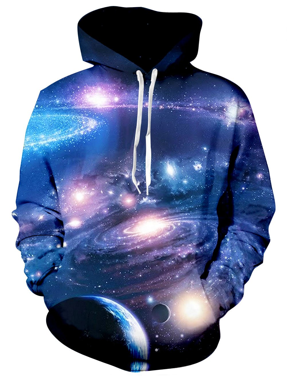 RAISEVERN Sudadera 3D Nebula Space Sudadera con Capucha Deportiva Impresionante para Sudaderas