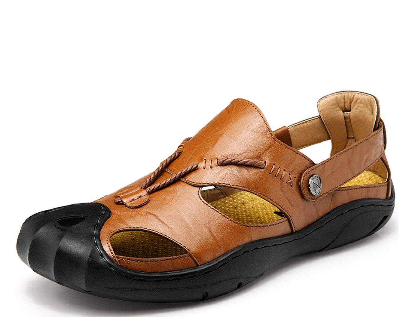 Miyoopark UK-XCR7301 - Sandalias de Vestir de Material Sintético Para Hombre 41 EU |marrón