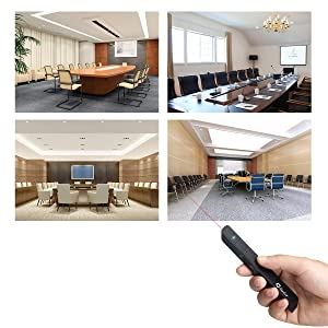 Restar LP0001 RF 2.4GHz Wireless USB PowerPoint PPT Presenter Remote Control Laser Flip Pen [LIFETIME WARRANTY] (Color: LP0001 Black, Tamaño: Restar LP0001)